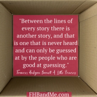 Between the lines of every story there is another story, and that is one that is never heard and can only be guessed at by the people who are good at guessing.""